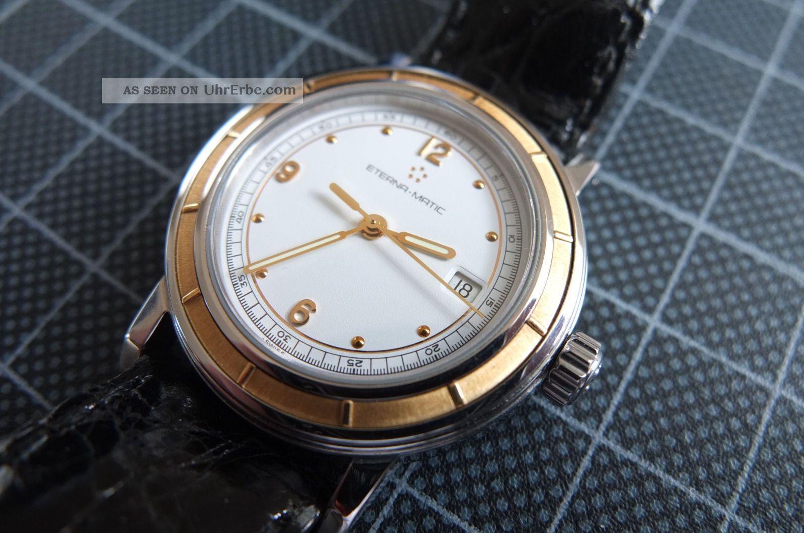 Eterna Matic Gelbgold - Stahl Damenuhr Wie Mit Armbanduhren Bild