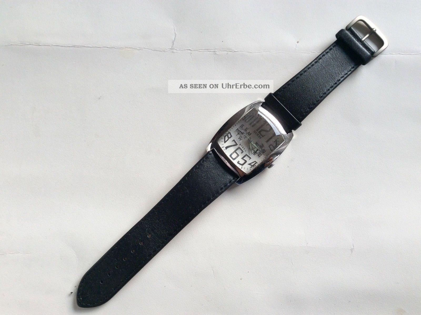 Designer Armband Uhr Unisex Von Guess Steel Water Resistent Armbanduhren Bild