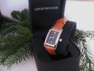 Emporio Armani Armbanduhr Mit Datum Lederband Damen Uhr Bild