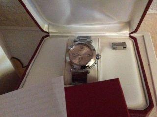 Cartier Uhr Pasha (35 Cm Ohne Krone) Mit Allen Papieren Im Originalkarton Bild