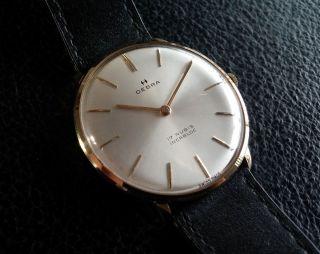 Oebra 17 Rubis Incabloc - 14k 585er Gold - Schweizer Uhr - Bestzustand Bild
