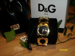 D&g Dolce&gabbana Croisette Dw0401 Gold Damen Uhr Armbanduhr Me Ovp Bild