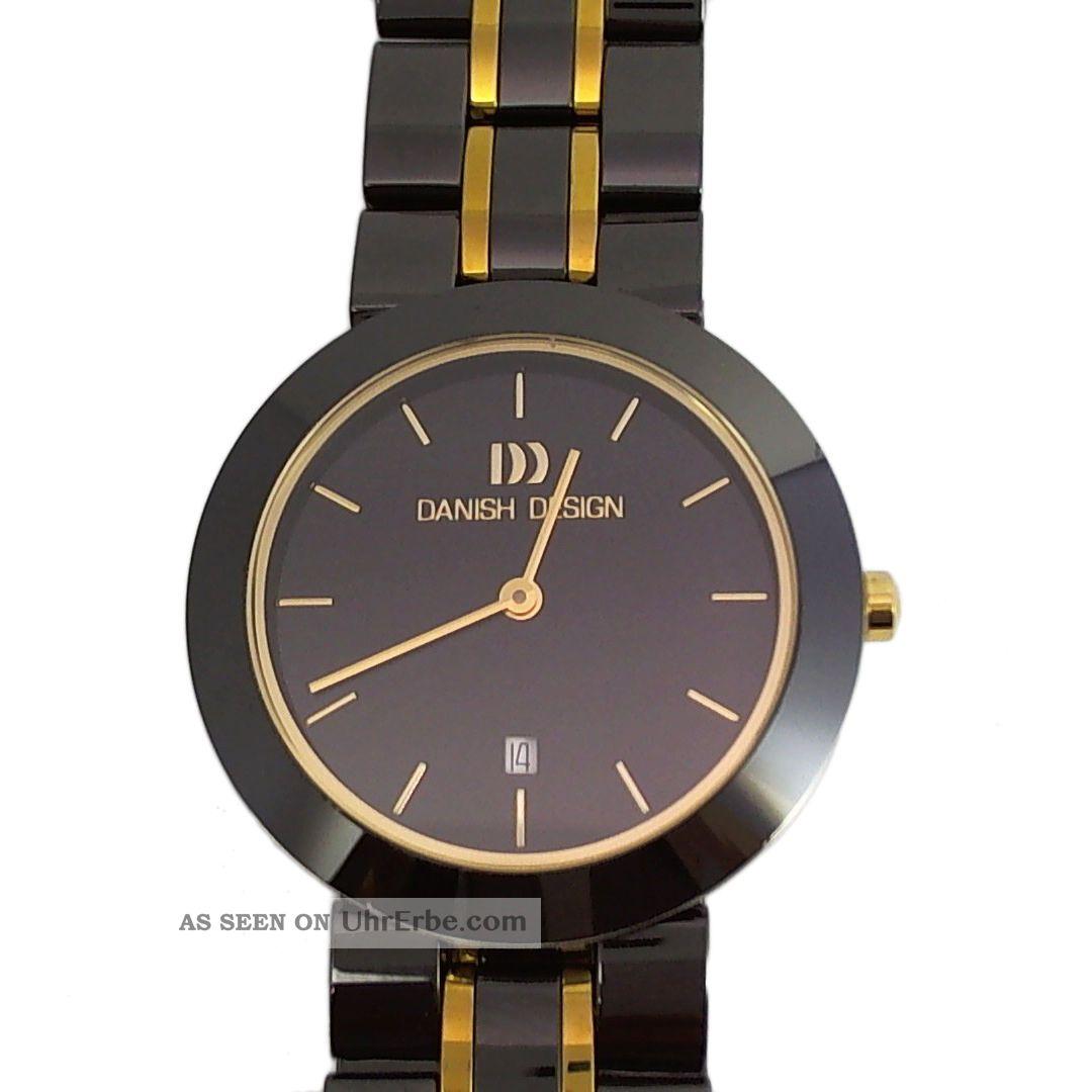 Danish Design Damen Armbanduhr Ceramic Keramik Anthrazit / Schwarz Gold 3324331 Armbanduhren Bild