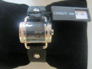 Cerruti 1881 La Luna Damenuhr Ct066272007 Uvp 199,  - Silberfarben Schwarz Besatz. Bild