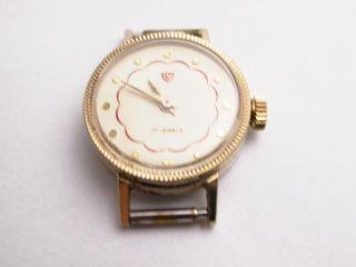 Damen Armbanduhr Goldfarben Ohne Band Handaufzug No - Name Vintage 1920 - 1970 Bild