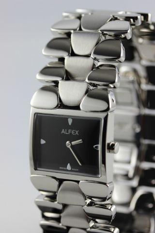 Alfex Damenuhr,  Edelstahl,  Swiss Made,  Perfektes Armbanddesign, Bild