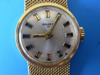 Anker 14 Karat Gelbgold Damen - Armbanduhr (bitte Lesen) Mit Armband Bild