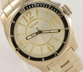 Tommy Hilfiger Damenuhr / Damen Uhr Edelstahl Gold 1781139 Bild