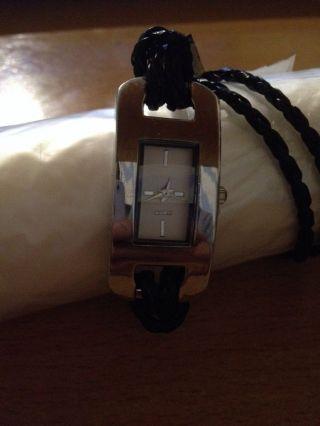 Lk Armbanduhr Schwarz,  Damen Uhr,  Quartz Uhr Analog Kunstleder,  Moderne (2000neu Bild