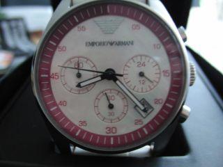 Armani Damen Uhr/perlmut Zifferblatt/top Bild