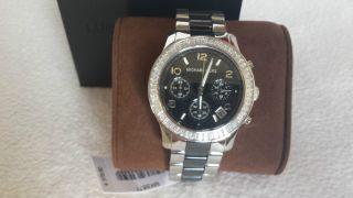 Michael Kors Damen Mk5677 Uvp 379,  - Silber Schwarz Watch Mk Geschenk Bild