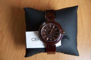 Dkny Ny8551 Damen Armbanduhr Uhr Keramik Ceramica Braun Geschenkbox Lp239€ Bild