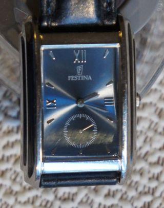 Festina 6631 Neue Batterie Herren Damen Klassisch - Elegant Leder Analog Modern Bild