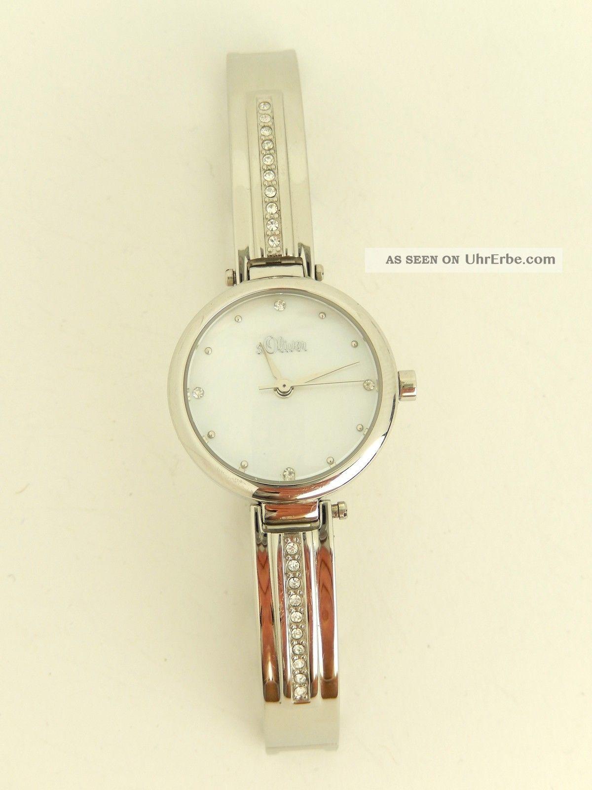 S.  Oliver Damen - Armbanduhr Xs Analog Quarz Edelstahl So - 2765 - Mq // H80 Armbanduhren Bild