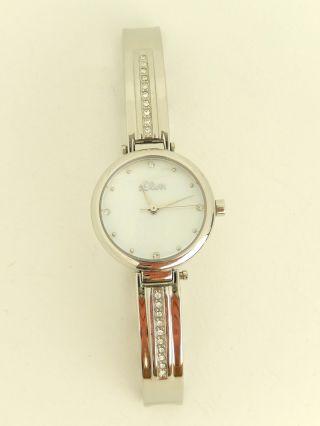 S.  Oliver Damen - Armbanduhr Xs Analog Quarz Edelstahl So - 2765 - Mq // H80 Bild