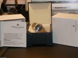 Maurice Lacroix Uhr,  Großes Modell,  Unisex Stahl / Schwarz Top Edel Bild