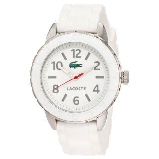 Armbanduhr Damen Lacoste 2000689 Rio Weiß Silikon Band Quarz Analog Uhr Bild