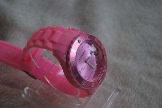 Silikon - Armbanduhr,  Ohne Datumsanzeige,  Pink - Rosa (s.  Foto) Bild