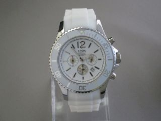 Tom Watch,  Chrono,  Sugar White,  48 Mm,  Wa00098 Bild
