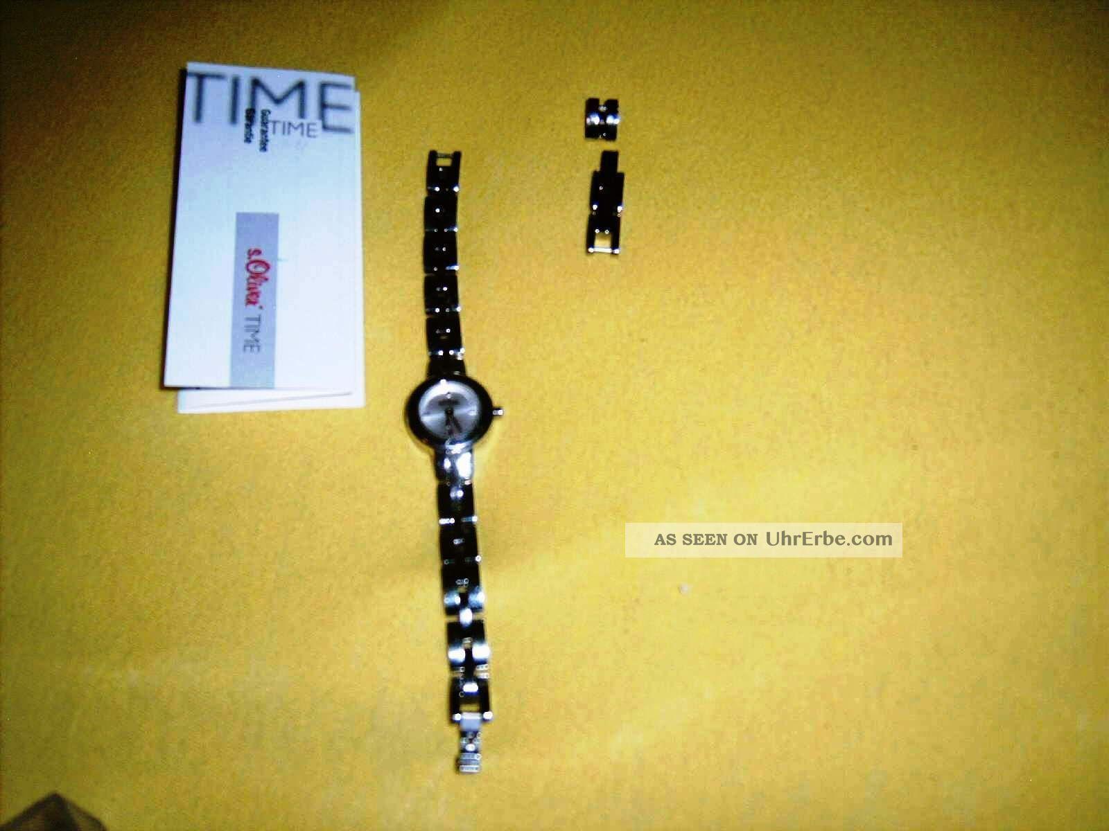S.  Oliver Time Edelstahl Armbanduhr,  Ersatzglieder & Ovp Armbanduhren Bild