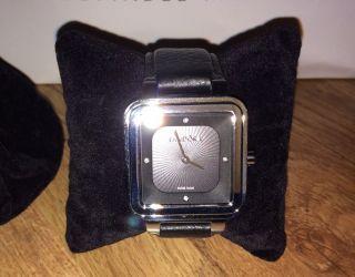 Pandora Damenuhr Leder In Schwarz Neu&ovp Grand C M.  Diamant Np 324€ Paypal Mögl. Bild