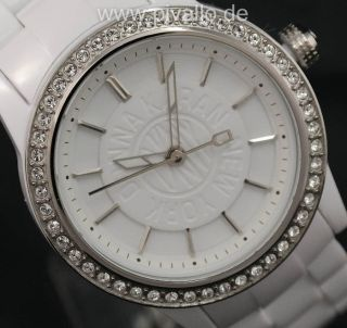 Dkny Donna Karan Ny Damenuhr / Damen Uhr Kunststoff Strass Leicht Ny8011 Bild