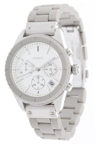 Dkny Donna Karan Damen Armbanduhr Chronograph Grau Ny8580 Bild