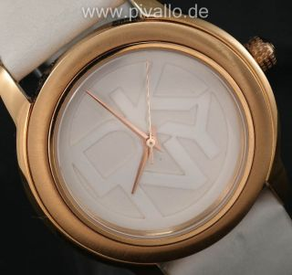 Dkny Donna Karan Ny Damenuhr / Damen Uhr Leder Rose Gold Silber Ny8802 Bild
