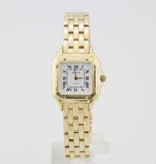 Geneve Swiss Made Goldband - Uhr Mit Quarzwerk GehÄuse & Band 14k 585/000 Gold Bild