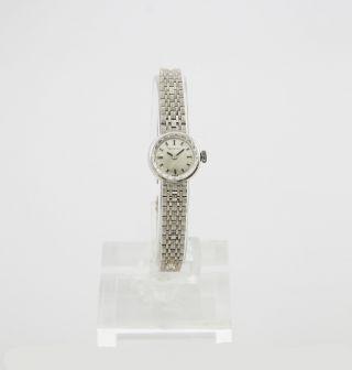 Cortebert Swiss 585 / 14k Massives Weißgold Handaufzug Vintage Damenuhr Bild