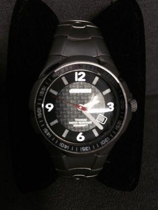 Carrera Titanium Damen Armbanduhr Carbon Ziffernblatt Wie Bild