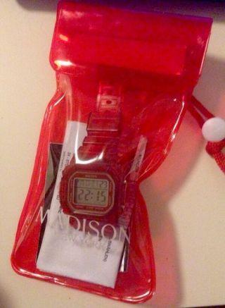 Madison York Candy Jelly Uhr Rot Wasserdicht Damenuhr Stoppuhr Bild