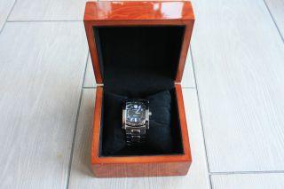 Bulgari Edel Stahl Automatik Uhr Assioma Schwarzes Zifferblatt Aa44s Bild