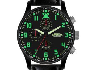 N4bl,  42mm,  Astroavia,  Chronograph,  Flieger Uhr,  Pilot,  Military,  Black Bild