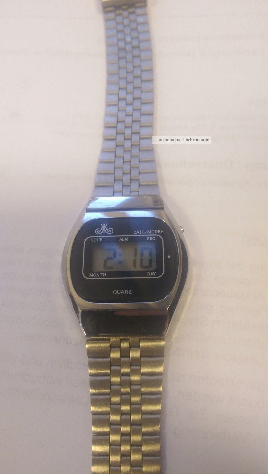 Top Rar Meister Anker Lcd Vintage Läuft Problemlos Armbanduhren Bild