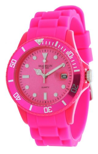 Madison N.  Y.  Candy Time Damen Armbanduhr,  Uhr,  Watch,  Pink U4167 - 05 - 1 Bild