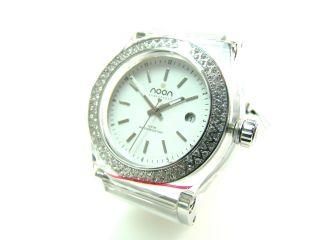 Noon Copenhagen Damen Uhr Armbanduhr Weiß Mit Glitzersteinchen Dänisch 6850 Bild