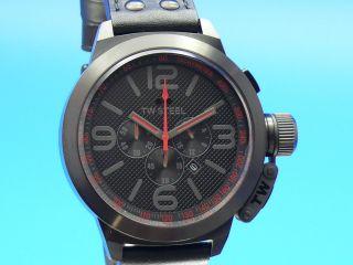 Tw Steel Canteen Herren - Armbanduhr Black /edelstahl Leder Tw - 903 Bild
