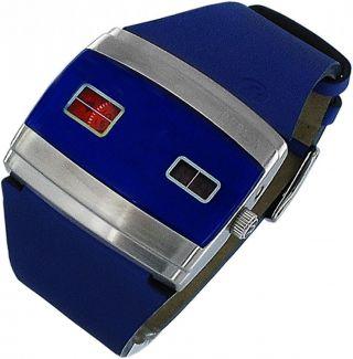 Replay Speed Rw5101xod Damenuhr Lederband Blau Bild