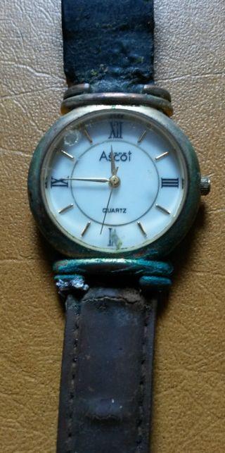 Alte Ascot Quarz Uhr - Schauen Sie Bilder / Beschreibung / Erhaltung Bild