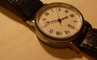 Elegante Hirsch Armbanduhr Mit Römischen Ziffern,  40 Mm Durchmesser Bild