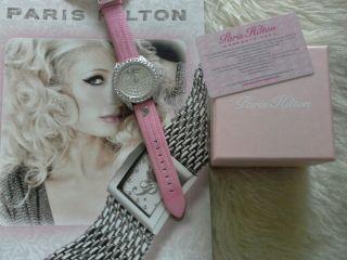 Paris Hilton / Damen Uhr / Zirkonia / Leder / Rosa Bild