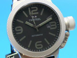 Tw Steel Canteen Herren - Armbanduhr Black /edelstahl Leder Twa - 200 Bild