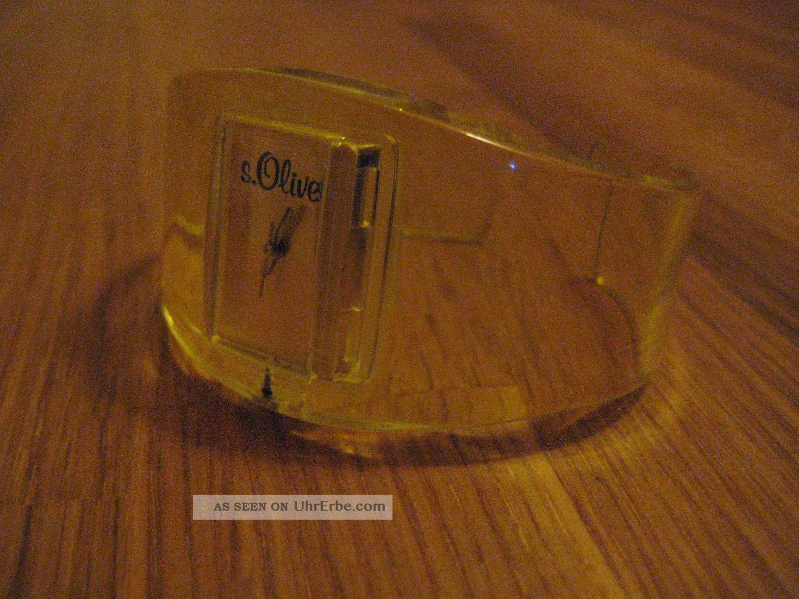 S.  Oliver Spangenuhr Gelb Armbanduhren Bild