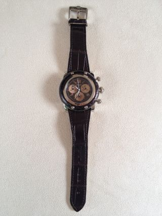 Glam Rock Damen - Armbanduhr,  Chronograph,  Model Miami,  Dunkelbraun Bild