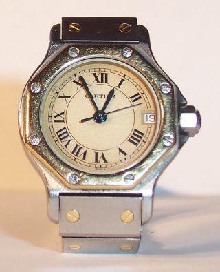 Cartier Santos Quarz Damenarmbanduhr Bild