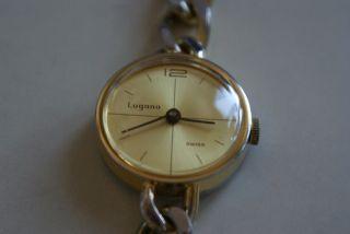 Lugano Damenuhr,  Mechanische Handaufzug,  Läuft Sehr Gut Bild