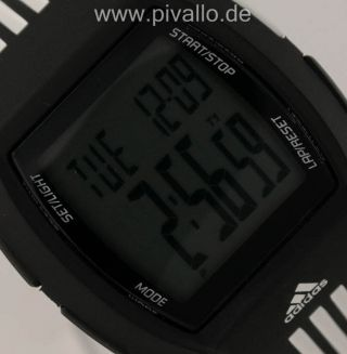 Adidas Paruko Herrenuhr / Damenuhr / Uhr Silikon Schwarz Digital Adp6046 Bild