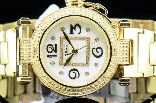 Damen Gelb - Ton Jojino Joe Rodeo 0,  12 Ct.  Diamant - Uhr Rundes Gesicht Ij1051 Bild