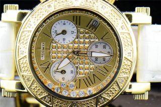 Damen Armbanduhr Gelb Jojino Joe Rodeo 0.  12kt Diamant Rund Gesicht Ij1085 Bild